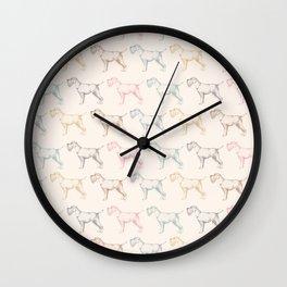 Schnauzer party Wall Clock