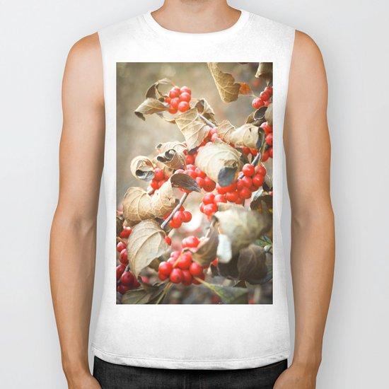 Winter Berries Biker Tank