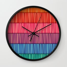 Abstract Colorful Decorative 3D Striped Pattern Wall Clock