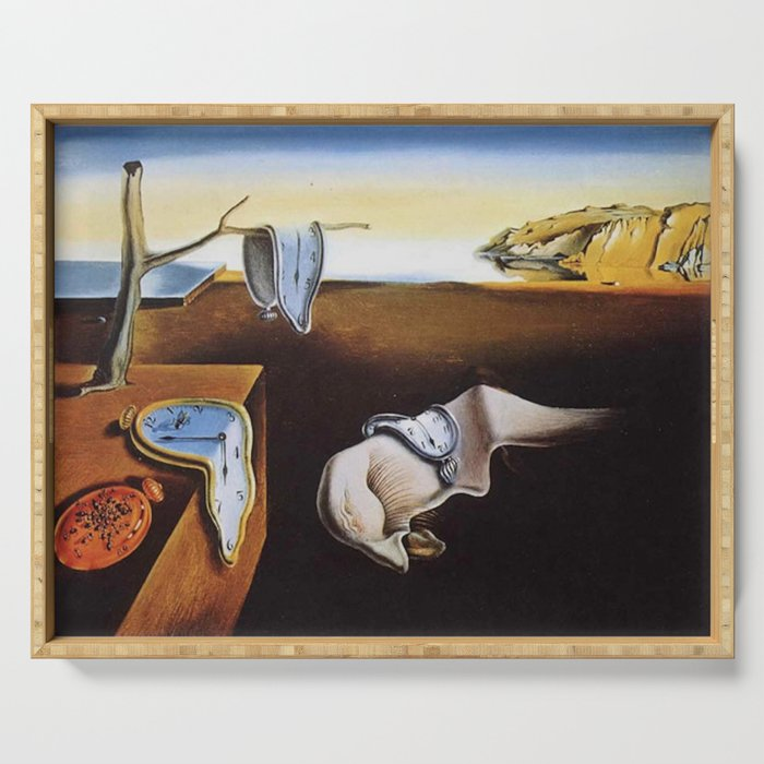 THE PERSISTENCE OF MEMORY - SALVADOR DALI Serving Tray