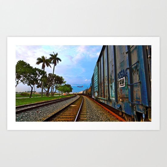 Planes, Trains, but no Automoblies Art Print