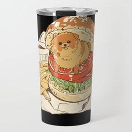 dog in hamburger Travel Mug
