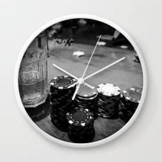 Poker Time Wall Clock