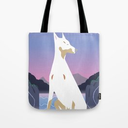 Spirit dog and Waterfall Tote Bag