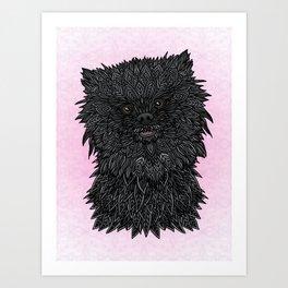 Black Pomeranian Art Print