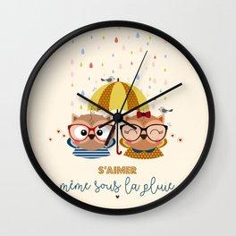S'aimer même sous la pluie Wall Clock