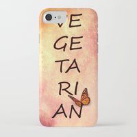 vegetarian iPhone & iPod Cases featuring Vegetarian by SensualPatterns