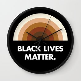 Black Lives Matter Rainbow Wall Clock