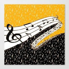 Gold music theme Canvas Print