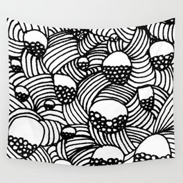 Baubles and Stripes Wall Tapestry