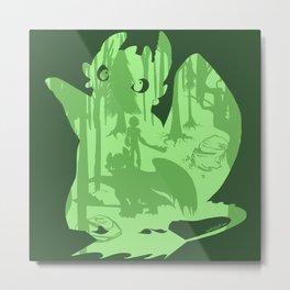 Shadow Dragon Metal Print