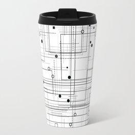 Black and white geometric abstract pattern Travel Mug