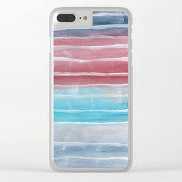 Tom Boy Stripes Clear iPhone Case