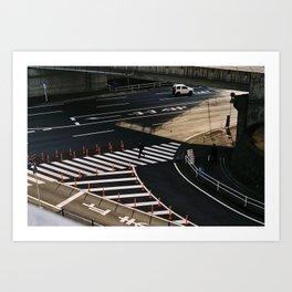Crossing near Narita Art Print