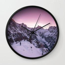 Standing in winter wonderland Wall Clock