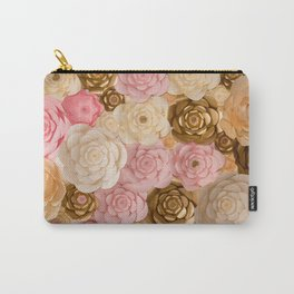Paper Flowers x Gold Pink Cream Carry-All Pouch