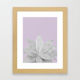 Lavender Fog Agave #1 #tropical #decor #art #society6 Framed Art Print