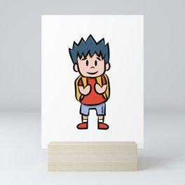 Young school enrollment Children cartoon gift Mini Art Print