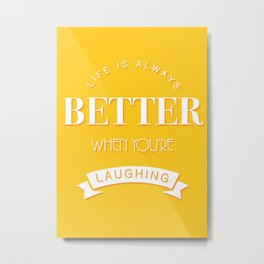 Laughing Metal Print