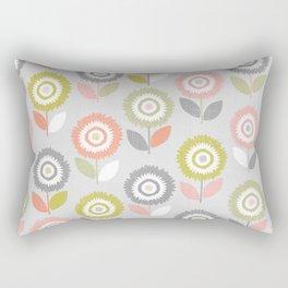 Soft Graphic Flower Pattern Rectangular Pillow
