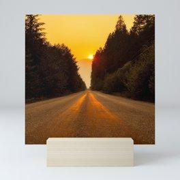 Canada Photography - Road Towards The Sunset Mini Art Print