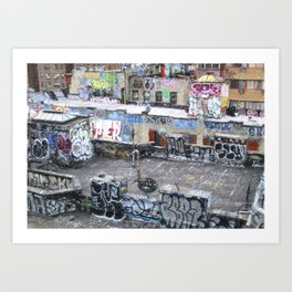NYC Rooftop Art Art Print