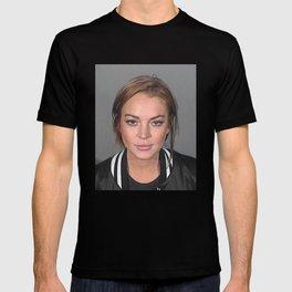 Lindsay Lohan Mugshot 1 T-shirt