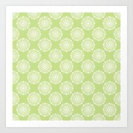 Kitchen cutlery green Art Print