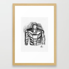 Warbot Sketch #051 Framed Art Print