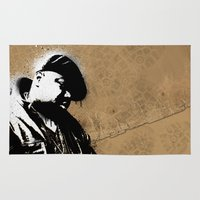 biggie smalls Area & Throw Rugs featuring The Notorious B.I.G. - Biggie Smalls by Chad Trutt