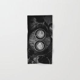 Coffees (Black and White) Hand & Bath Towel