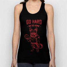 GO HARD OR GO HOME FRENCHIE Unisex Tank Top