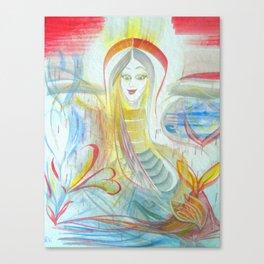 Water Woman Canvas Print