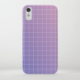 purple / pink - grid iPhone Case