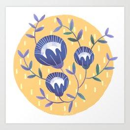 Morning Blossoms Art Print