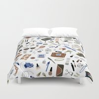 girly Duvet Covers featuring Girly Objects by Yuliya