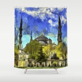 Blue Mosque Istanbul Van Gogh Shower Curtain