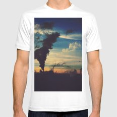 Southside Chicago Factory White Mens Fitted Tee SMALL