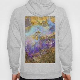 Shimmery Blue & Purple Opal Encrusted in Gold Hoody