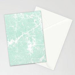 Modern vintage mint white elegant marble Stationery Cards