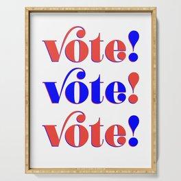 Vote! Vote! Vote! Serving Tray