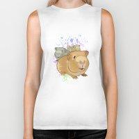 pigs Biker Tanks featuring Guinea Pigs by Adamzworld