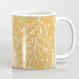 Botanical, Twigs and Leaves, Floral Prints, Yellow Coffee Mug