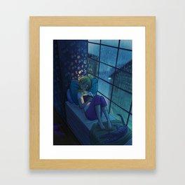 A Good Book Framed Art Print