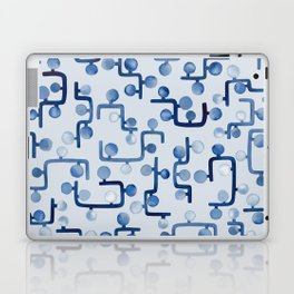 Blue Watercolour Zig Zag Laptop & iPad Skin