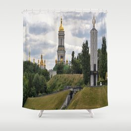 View of the Kiev-Pechersk Lavra Shower Curtain