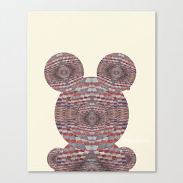Perception: Checkered red and grey creature Canvas Print