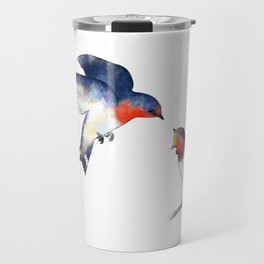 Swallow mother and baby Travel Mug