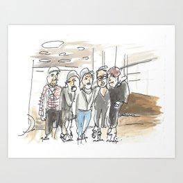 The Fourniers - Family Portrait Art Print