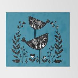 Danish Birds Bring Good Luck And A Good Life Throw Blanket